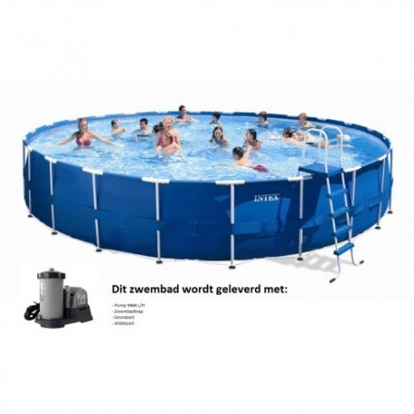 Intex Metal Frame Pool rond 732x 132 cm zwembad