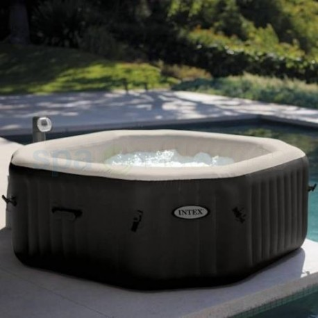 jacuzzi kopen intex pure spa bubble therapy octagon de lux met hardwater en zoutsysteem. Black Bedroom Furniture Sets. Home Design Ideas