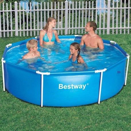 Bestway metal frame pool rond 244 x 61 cm zwembaden frame for Zwembad frame