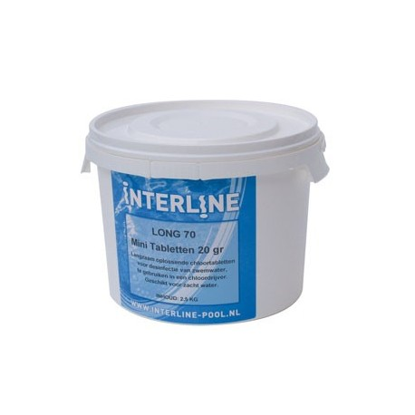 2,5 kg Chloortabletten Interline Pool chloor tabletten long 90
