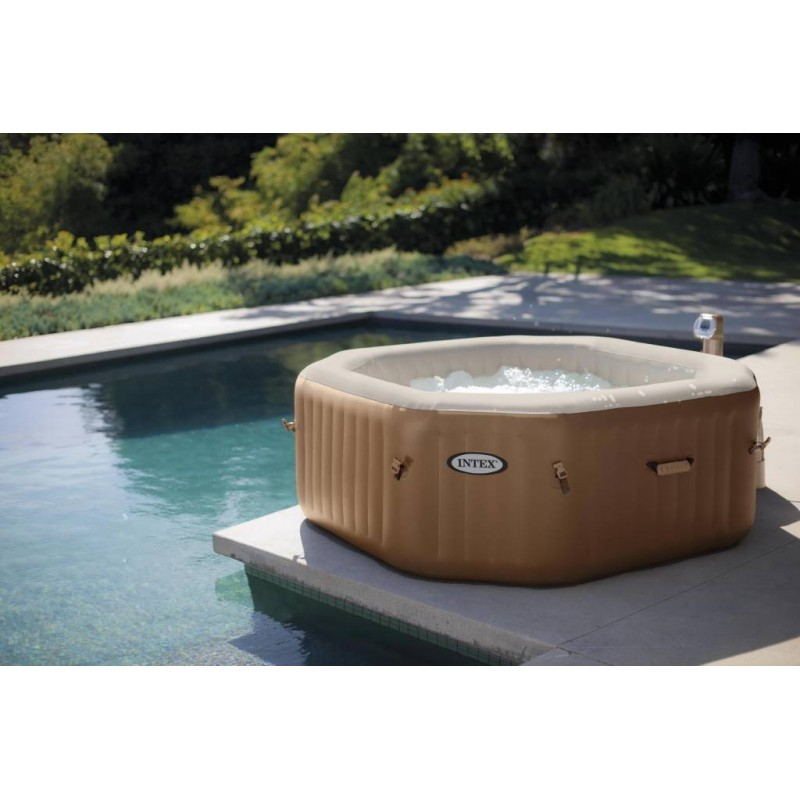 jacuzzi kopen intex octagon pure bubbel therapy spa met hardwatersysteem whirlpool 8 hoek. Black Bedroom Furniture Sets. Home Design Ideas
