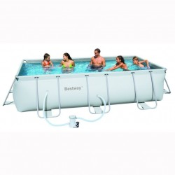 Bestway Frame Pool 404x201x100 cm rectangle zwembad