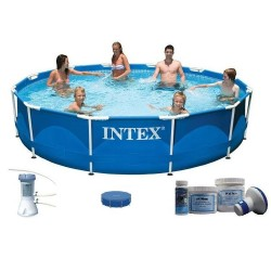 Intex Metal Frame Pool 366 x 76 cm SET aanbieding
